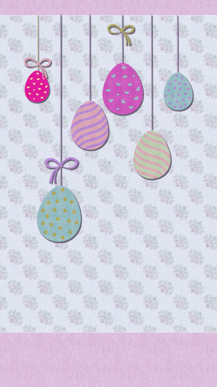 hanging easter eggs